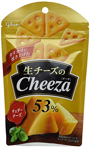 Cheese Cracker with Cheddar Cheese - Cheeza- By Glico From Japan 42g