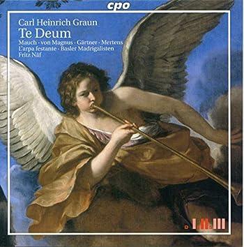 Graun: Te Deum & 3 Motets in Vierstimmige Motetten und Arien