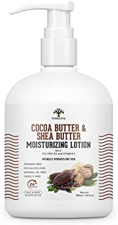 Vanalaya Cocoa Butter & Shea Butter Moisturizing Lotion with Vitamin E and coconut oil for Dry Skin Paraben Free Sulphate free Mineral oil free for Face and Body 300ml