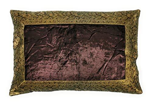 Aga's Own Indische Kissen 40 x 60 cm Kissenhülle Kissenbezug Orientalischer Bezug Indien (Braun)