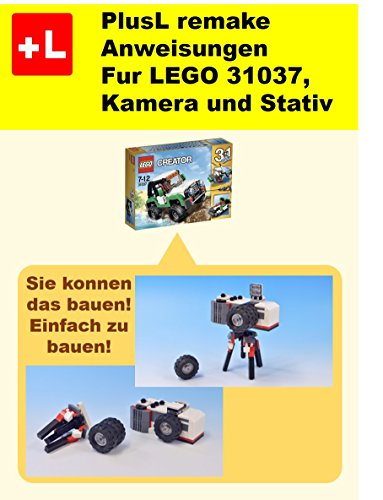 PlusL remake Anweisungen Fur LEGO 31037, Kamera und Stativ: Sie konnen die Kamera und Stativ aus Ihren eigenen Steinen zu bauen!