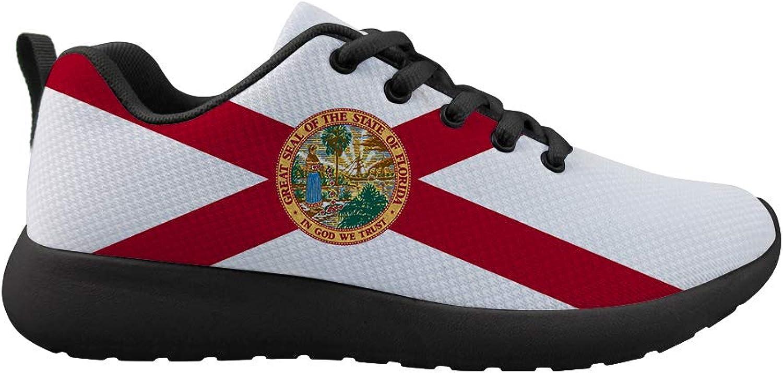 Owaheson Cushioning Sneaker Trail Running shoes Mens Womens Florida Flag