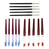 Asayu 15 Pcs Clay Shaping Modeling Wipe Out Tools Rubber Tip Paint Brushes, Shape Pottery Clay Sculpture...