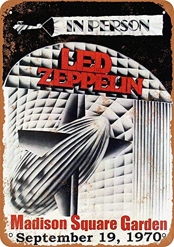 Lorenzo Led Zeppelin at Madison Square Garden Vintage Metal Vintage Metallblechschild Wand Eisen Malerei Plaque Poster Warnschild Cafe Bar Pub Bier Club Dekoration