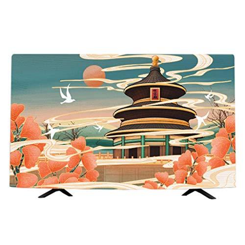 HBLZG Cubierta de TV Protector de Pantalla Interior para Cubierta Antipolvo de TV de Pantalla Plana Tela Pantalla de TV Protector (Color : I, Size : 55 Inches)