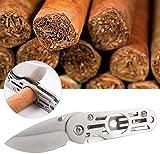 heepdd tagliasigari tascabile, miglior sigaro in acciaio inossidabile lama affilata multiuso forbici a testa tonda miglior regalo per uomo marito (nessun tabacco)