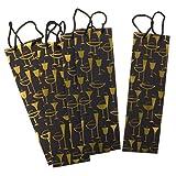 5 pièces élégant Papier Sacs à vin Liquor Bouteilles Sacs for la cérémonie de Mariage Cadeaux de Souvenirs Voyage Titulaire Actuel (Color : Gold)