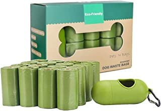 UQKGLBM Dog Poop Bags With Dispenser, Pet Waste Bags Biodegradable For Dogs, Lavender Smell,Leakproof (240 Counts 16 Rolls)