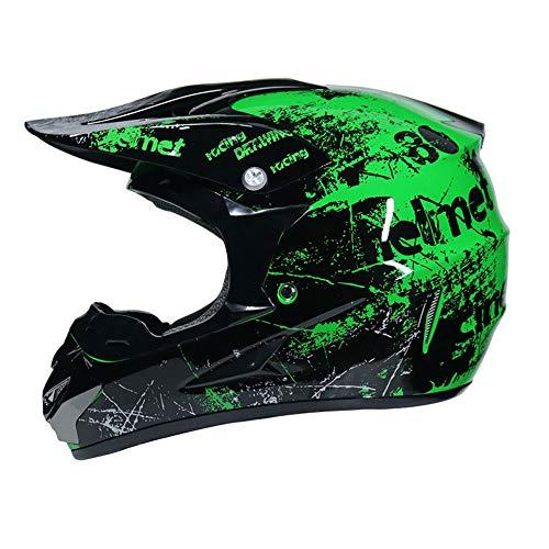 Motocross-Helm,Herren Atmungsaktive Vollgesichts-Motorradhelme Mountain-Motorradkappe für Outdoor-Moto-Zubehör
