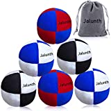 Hacky Sack Footbag Balls Juggling Balls for Beginners & Professional Kids & Adults Bulk Set of 1 2 3 with Portable Carry Bags (6 Pack)