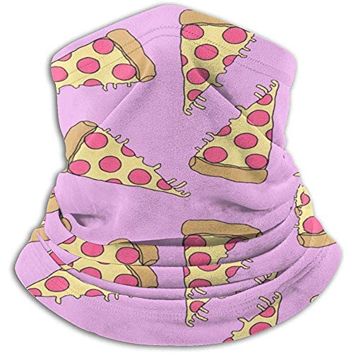 Pink Pizza Neck Warmer Heat Sun-Proof Neck Gaiter Tube Soft Half Mask Unisexe Windproof Ski Neck Gaiter Cover For Skiing Run