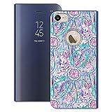 Head Case Designs Oficial Micklyn Le Feuvre Explosión en Rosa y Verde Azulado Florales Fundas con Función Atril Compatible con Apple iPhone 7 / iPhone 8 / iPhone SE 2020