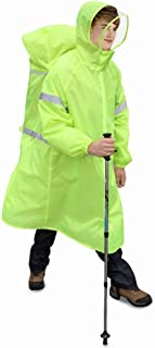 ZXQZ レインコートアウトドアアダルトはレインコートキャンプバックパックレインコート釣りポンチョレインコートは雨嵐を防ぐCollapsibleレインコート ポンチョ (色 : B, サイズ さいず : M)