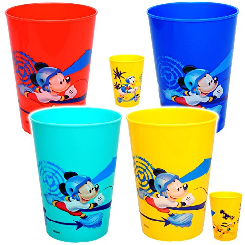 alles-meine.de GmbH 1 Stück _ 3 in 1 - Trinkbecher / Zahnputzbecher / Malbecher - Becher -  Disney - Mickey Mouse - Donald Duck & Pluto  - 250 ml - Trinkglas aus Kunststoff Pla..