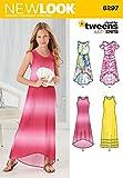 Simplicity Creative Patterns New Look 6297 Girls' Knit Dress, A (8-10-12-14-16)