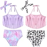 Syhood 2 Sets Baby Mädchen Bikini Badeanzug Meerjungfrau und Leopard (18-24 Monate)
