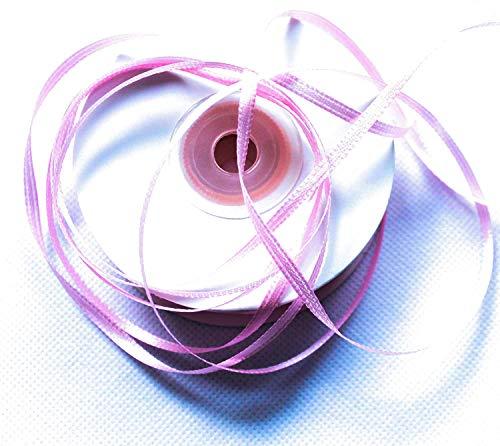 CaPiSo® 100m Satinband 3mm Schleifenband,Geschenkband,Dekoband,Satin Hochzeit,Weihnachten (Rosa, 100m 3mm)