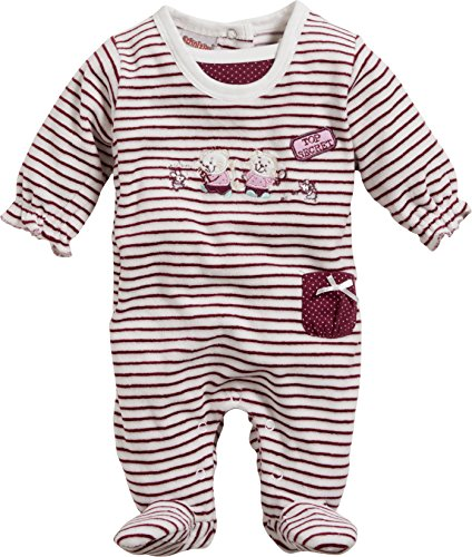 Schnizler Baby-Mädchen Schlafoverall Nicki Ringel Top Secret Schlafstrampler, Rot (Bordeaux 9), 50