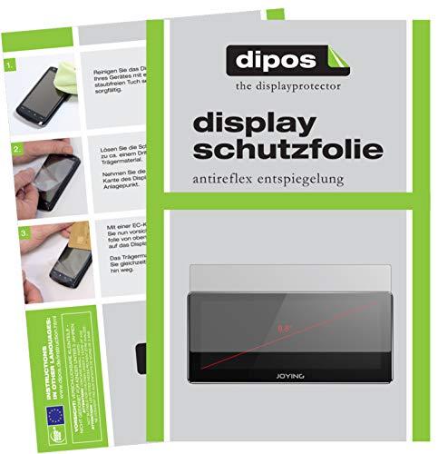 dipos I 2X Schutzfolie matt kompatibel mit Joying Radio 8.8 Zoll Folie Bildschirmschutzfolie
