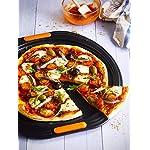 Le Creuset Toughened Non-Stick Bakeware Pizza Pan, Black, 38.7 x 36.7 x 1.2 cm 4