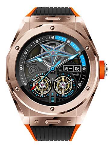 XWZ Reloj Inteligente Llamadas Telefónicas Bluetooth Monitor De Temperatura Corporal Rastreador De Fitness Reloj De Pulsera Reloj Deportivo Inteligente Smart Watch,Oro