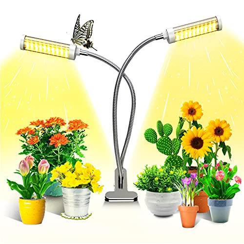 KagoLing LED Pflanzenlampe 100LEDS Wachsen Pflanzenlicht Vollspektrum Grow Lampe Pflanzenleuchte Verstellbarer Schwanenhals 3 Arten von Modus für Blumen Früchte Samen Sukkulenten