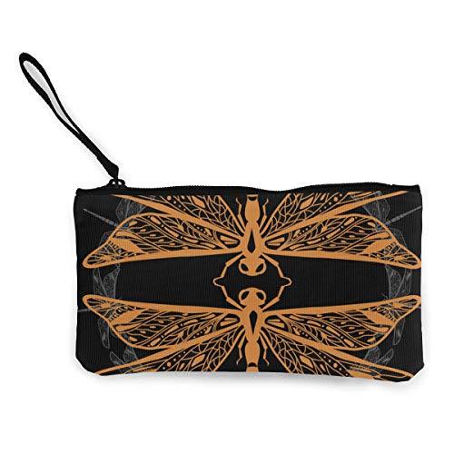 Zwei dekorative Libellen-Portemonnaie aus Segeltuch, exquisite Münzbörse, kleine Geldbörse aus Leinen, dient zum Aufbewahren von Münzen, Ausweisen und anderen