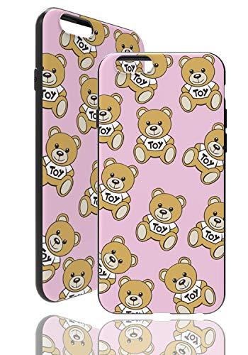 Teddy Bär Hülle [ Kompatibel mit Apple iPhone 6 / 6s, Pink ] Toy Bear Case - Fühlbares 3D Motiv - Soft TPU Cover