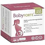 BabyFORTE® FolsäurePlus ohne Jod - Schwangerschaftsvitamine OHNE JOD - 180 Kapseln + Kinderwunsch Vitamine ohne Jod