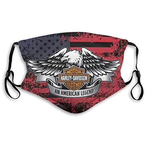 Mundschutz Gesichtsbedeckung Harley-Davidsons Mund Kopftuch Wiederverwendbarer Schal für den Außenbereich Gesichtsdekorationen-91