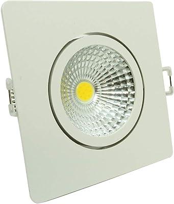 Spot LED Quadrado Foxlux – Luz Branca (6500K) – 5W – Bivolt (100V-240V) – Ideal para decoração, FOXLUX, Colorido
