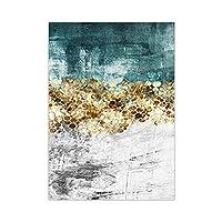 抽象的な壁アートキャンバス絵画ゴールドフォーチュンツリーゴールドモジュラーポスターとリビングルームの装飾のためのプリント70x100cmフレームレス