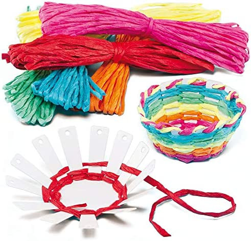 Baker Ross EF656 Basket Weaving Kits Pack of 4 Introductory Sewing for Beginners Suitable for product image