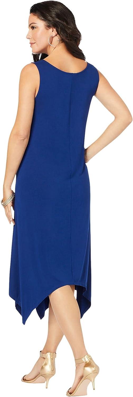 Roamans Women's Plus Size Sleeveless Swing Dress