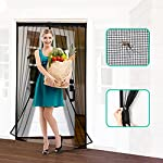 Homitt Magnetic Screen Door with Heavy Duty Mesh Curtain and Full Frame