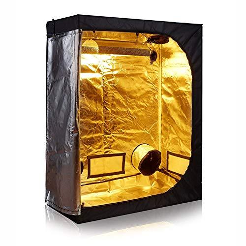 QWERTOUY System Tuin Kas Indoor Grow Tent 600D 40x40x78inch (100x100X200cm) Thermostaat Ventilatie Balkon Kas