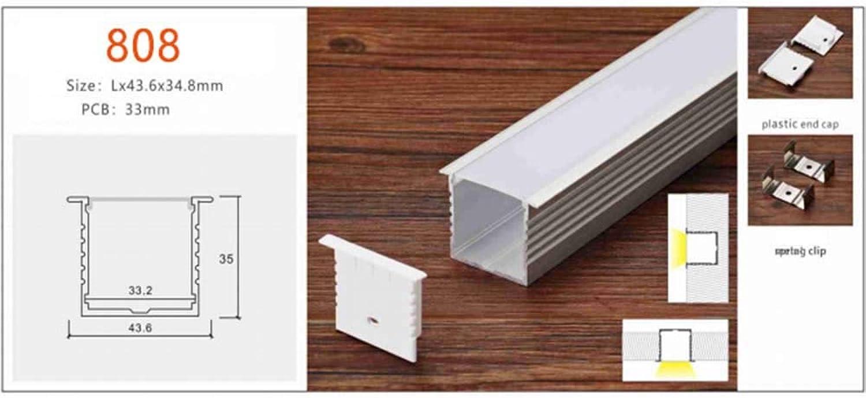 de moda Tira De Luz Empotrada LED - Aleación Aleación Aleación De Aluminio Oculta - Luz blancoa Fría 15000K - Clase De Projoección IP43 - Lámpara De Modelado De Pasillo (2000-2200K,43.6  35mm)  precio mas barato