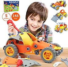 5-in-1 Building Toys for Kids - 148 Pcs Educational STEM Learning Toy and Play Builder Engineering Gift Set for Boys & Girls 8, 9, 10 Years Old Builds, Car, Helicopter, Airplane, Truck, & Motorcycle