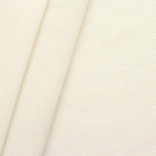 100% Baumwolle Canvas Stoff Meterware Creme-Weiss