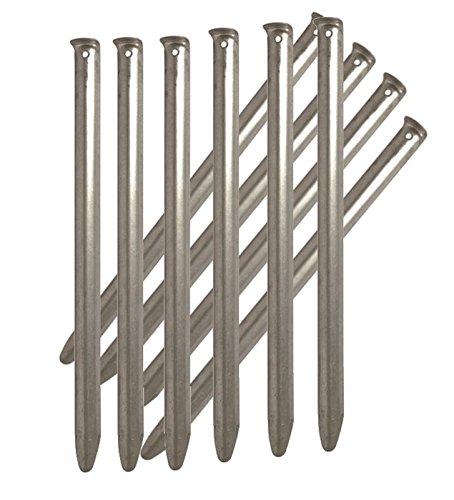 AOS-Outdoor ZELTHERINGE Stahl HERINGE 23 cm 10er Pack (0,59 Eur. /Stck)