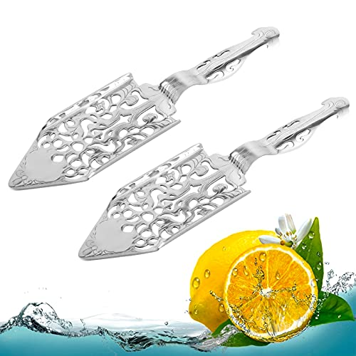2 Pieces Stainless Steel Absinthe Spoons ORNOOU Wormwood Cocktail Bar Glass Cup Drinking Filter Vintage -  GFVC005