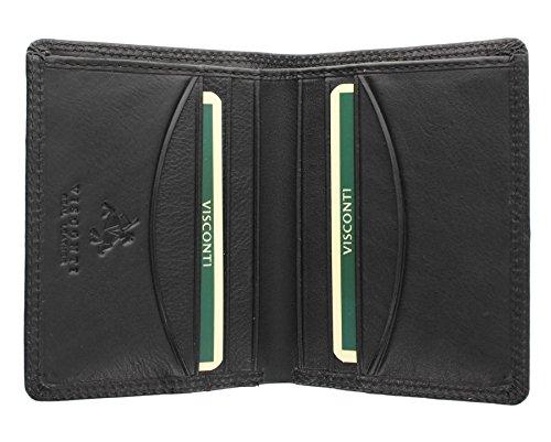 Visconti collezione Heritage HARLEY. Portafoglio Bi-Fold di pelle compatto Blocco RFID HT6 Nero