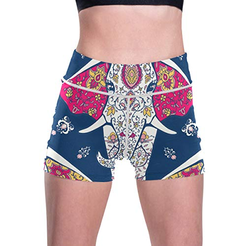 RURUTONG Pantalones cortos de yoga para mujer, cintura alta, pantalones cortos de entrenamiento, control de barriga, pantalones de yoga con bolsillos - - Large