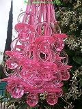 Large Fancy Pacifier Diamond Cut Necklaces Baby Shower Game Favors Prizes Decor U-Pick Color (Pink)