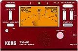 KORG TM-60-RD - Afinador y Metrónomo Rojo