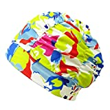 HONBAY Pleated Swimming Cap Long Hair Swim Cap Lycra Bathing Cap, Non-Waterproof (Camouflage)