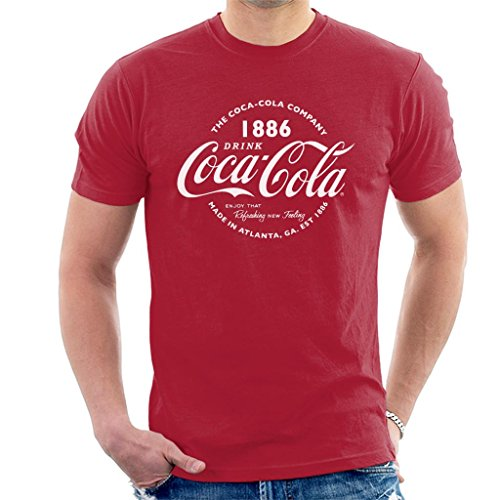Coca-Cola Retro Logo White Text Men's T-Shirt