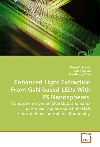 Enhanced Light Extraction From GaN-based LEDs With PS Nanospheres: Nanosphere layer on blue LEDs and nano-patterned sapphire substrate LEDs fabricated by nanosphere lithography