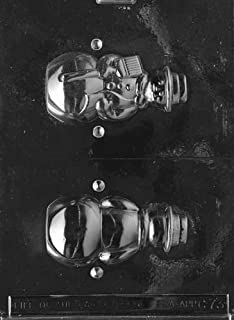 Cybrtrayd Life of the Party C073 Medium Hollow Snowman  Chocolate Candy Mold in Sealed Protective Poly Bag Imprinted with Copyrighted Cybrtrayd Molding Instructions
