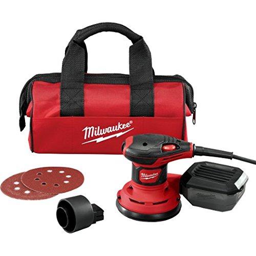 Milwaukee 6034-21 12,7 cm Exzenterschleifer, rot/schwarz, 5 Inches